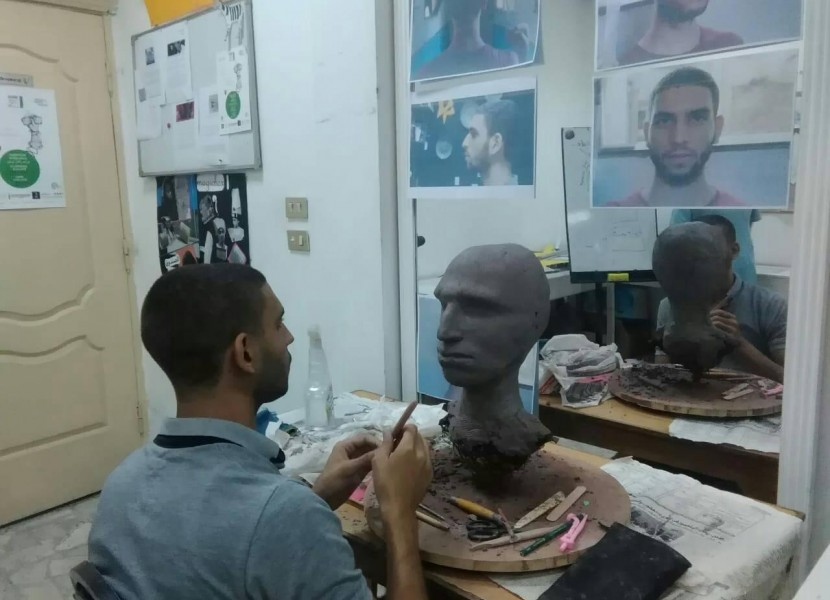 Busy times at the Animation School Jesuite Cairo
